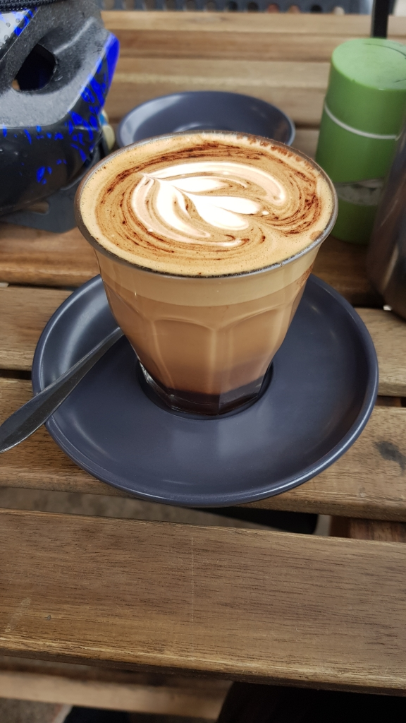 A mocha at AJ's Cafe, in Greystanes.